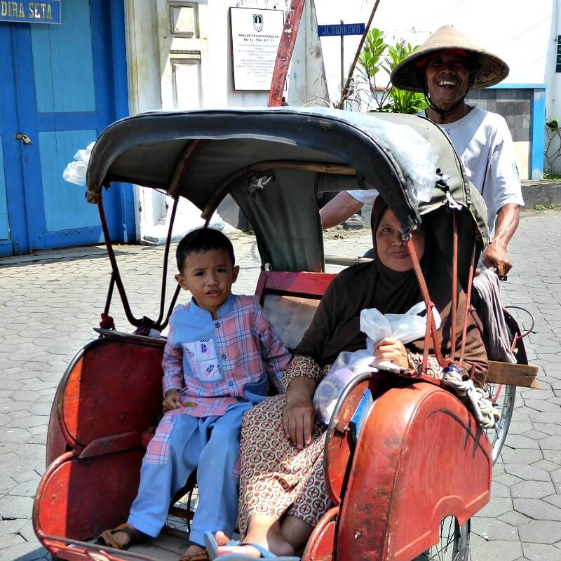 Becak Java - familiereis Indonesië - Puur Azië